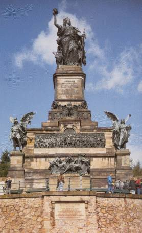 The Niederwald monument at Rüdesheim,  erected 1883