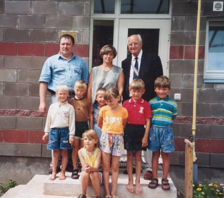 Jürgen Baron von Schilling MD in Front of his SOS children's house